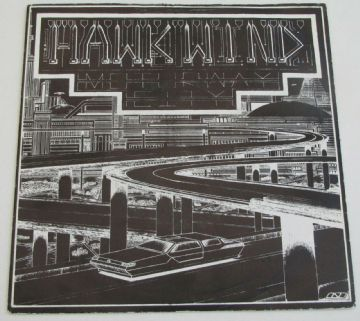 "HAWKWIND Motorway City 1983 UK 7"" P/S SPACE ROCK MINT MINUS AUDIO"